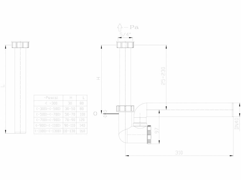 Pagina 1 - CAD-DXF Sifon pentru condens cu racord de admisie pe verticala HL Hutterer & Lechner ...