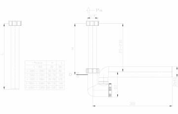 Sifon pentru condens cu racord de admisie pe verticala HL Hutterer & Lechner
