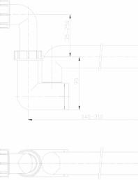 Sifon pentru condens cu racord intrare pozitionat orizontal sau vertical
