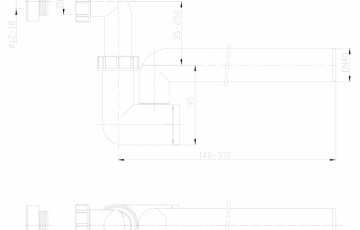 Sifon pentru condens cu racord intrare pozitionat orizontal sau vertical HL Hutterer & Lechner
