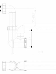 Sifon pentru condens cu tuburi transparente