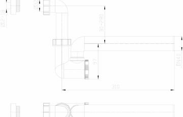 Sifon pentru condens cu tuburi transparente HL Hutterer & Lechner