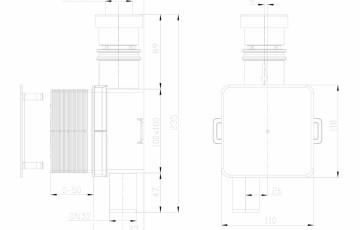 Sifon pentru condens cu montaj ingropat cu cartus transparent si extractabil pentru curatare HL Hutterer & Lechner
