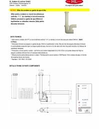 Sifon pentru condens cu racord de admisie pe verticala