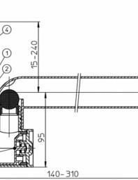 Sifon pentru condens cu racord de admisie pe verticala - desen tehnic