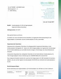 Certificat igiena - Sifon pentru condens cu montaj ingropat