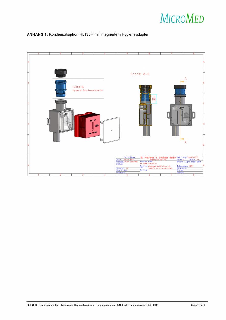 Pagina 7 - Certificat igiena - Sifon pentru condens cu montaj ingropat HL Hutterer & Lechner...