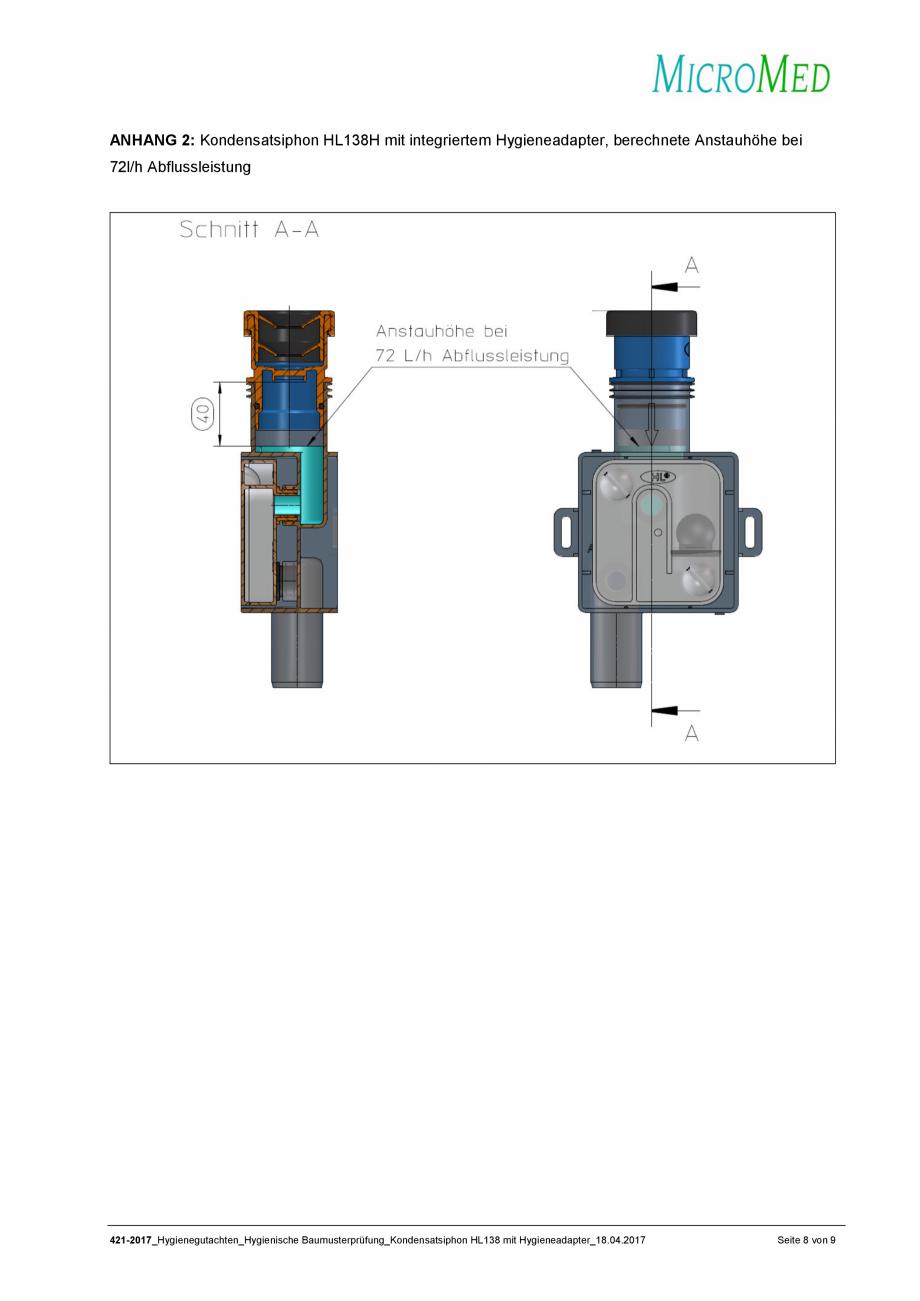 Pagina 8 - Certificat igiena - Sifon pentru condens cu montaj ingropat HL Hutterer & Lechner...