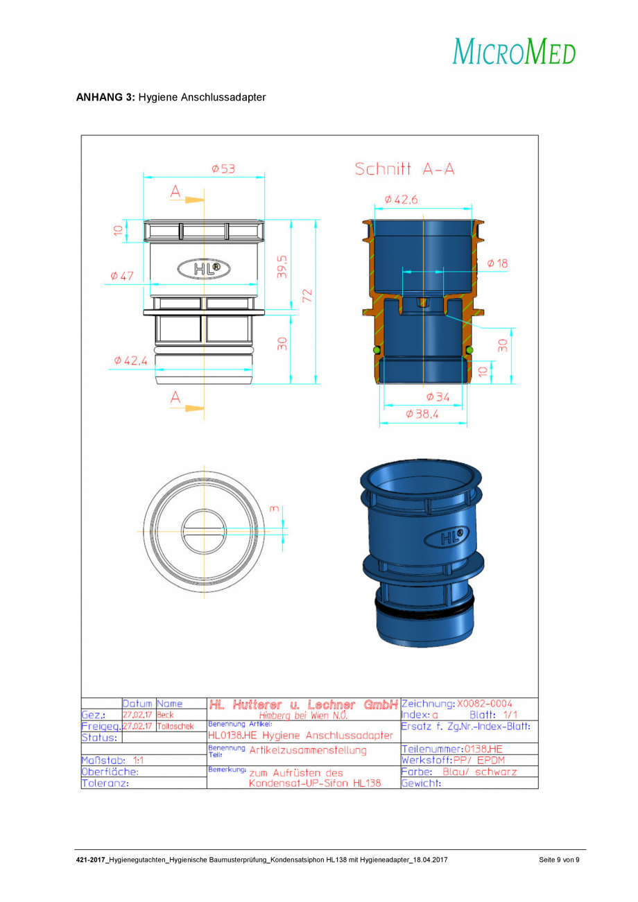 Pagina 9 - Certificat igiena - Sifon pentru condens cu montaj ingropat HL Hutterer & Lechner...