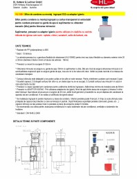 Sifon pentru condens cu montaj ingropat cu adaptor igienic