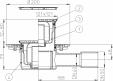 Desen tehnic - Sifon pardoseala DN40 50 orizontal cu obturator de mirosuri Primus - 3120 HL