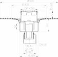 Desen tehnic - Sifon de pardoseala DN50 75 110 cu iesire verticala cu manseta din bitum
