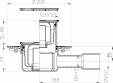 Date tehnice - Receptor de pardoseala DN40 50 orizontal cu flansa de izolatie obturator de mirosuri