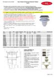 Receptor cu iesire verticala flansa hidroizolatie inaltator cu rama PP si gratar HL Hutterer & Lechner