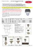 Receptor cu iesire verticala flansa hidroizolatie inaltator cu rama fonta si gratar fonta HL Hutterer &