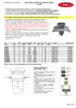 Receptor cu iesire verticala guler din bitum inaltator cu rama PP si gratar HL Hutterer &