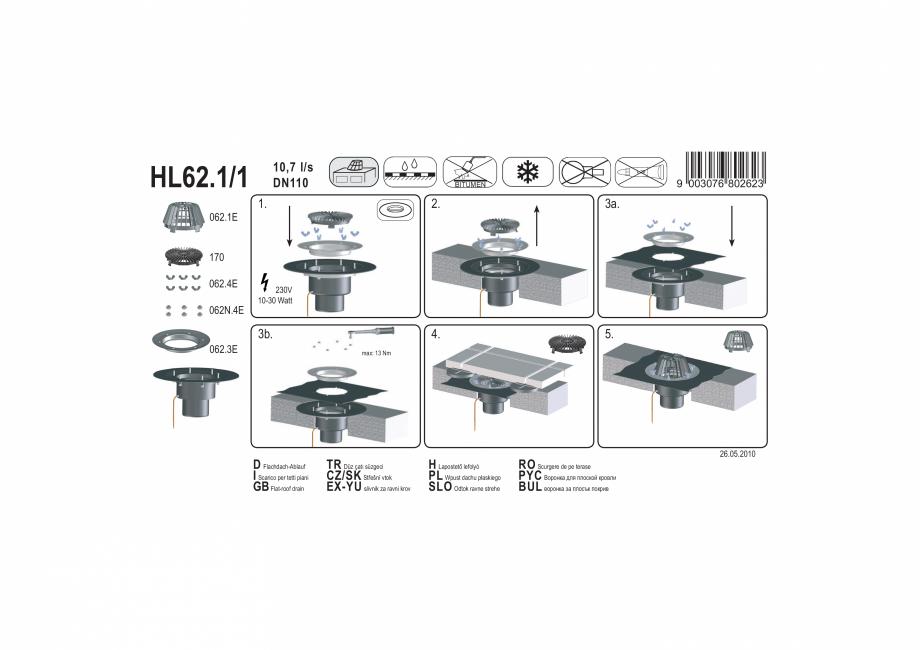 Pagina 1 - Exemplu de montaj: Receptor pentru acoperis, cu clema si element de incalzire HL62.1/1 HL...