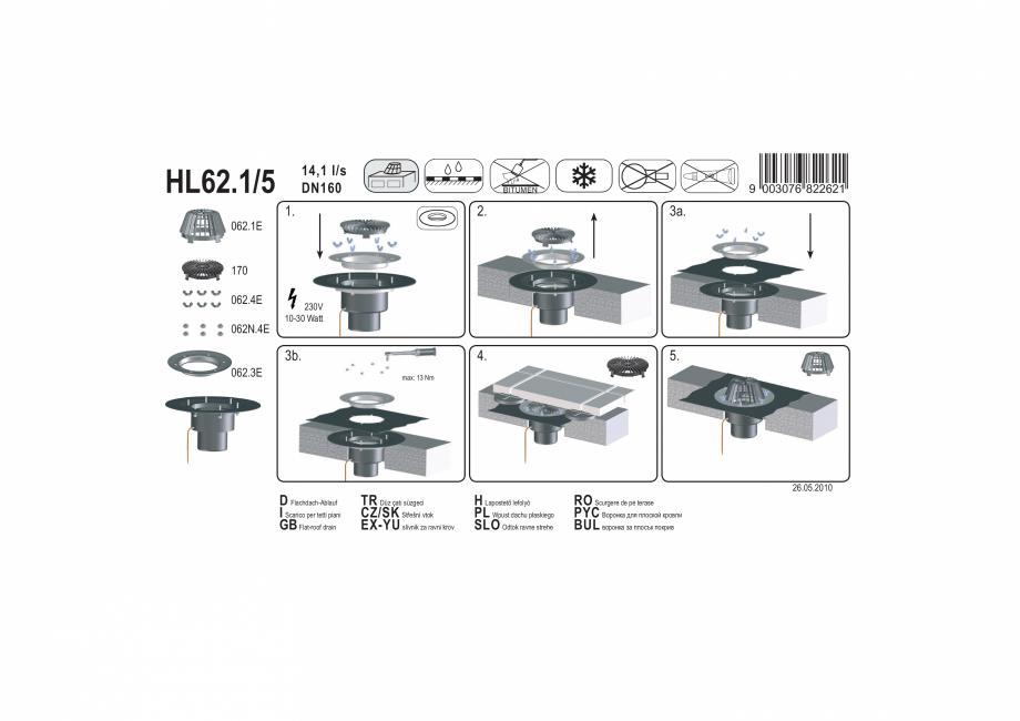 Pagina 1 - Exemplu de montaj: Receptor pentru acoperis, cu clema si element de incalzire HL62.1/5 HL...