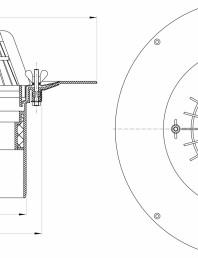 Desen tehnic: Receptor pentru acoperis, cu clema si element de incalzire HL62.1/5
