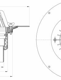 Desen tehnic: Receptor pentru acoperis, cu clema si element de incalzire HL62.1/2