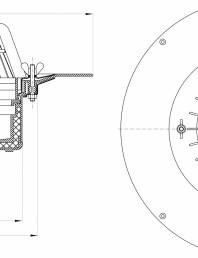 Desen tehnic: Receptor pentru acoperis, cu clema si element de incalzire HL62.1/7