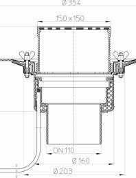 Desen tehnic: Receptor pentru acoperis circulabil cu clema si element incalzire HL62.1B/1