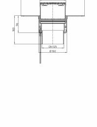 Desen tehnic Receptor pentru acoperis cu scurgere verticala cu guler din PP si incalzire HL62 1BF