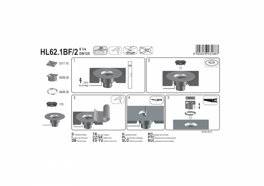 Pagina 1 - Exemplu montaj: Receptor pentru acoperis cu scurgere verticala, cu guler din PP si...