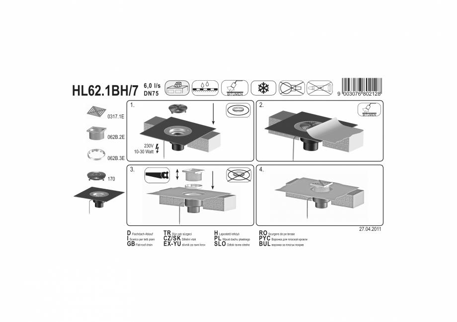 Pagina 1 - Exemplu montaj: Receptor pentru acoperis circulabil cu manseta din bitum si incalzire...