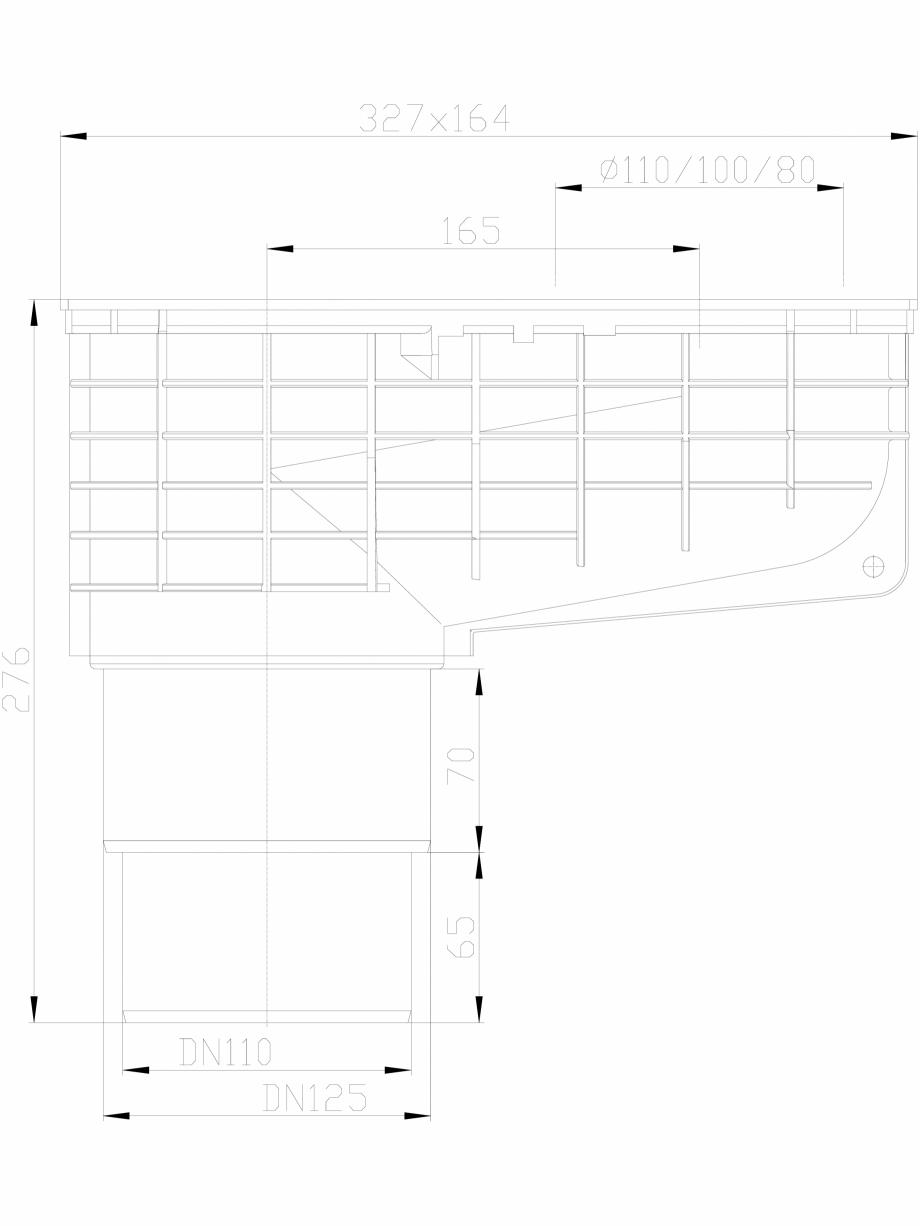 Pagina 1 - CAD-DXF Caseta ape pluviale cu racord evacuare vertical fix HL Hutterer & Lechner...