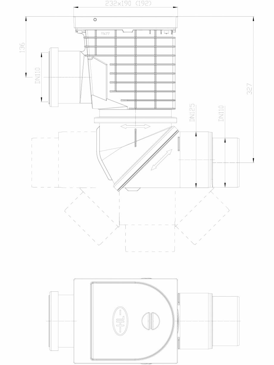 Pagina 1 - CAD-DXF Caseta ape pluviale pentru burlane inglobate in fatada HL Hutterer & Lechner ...