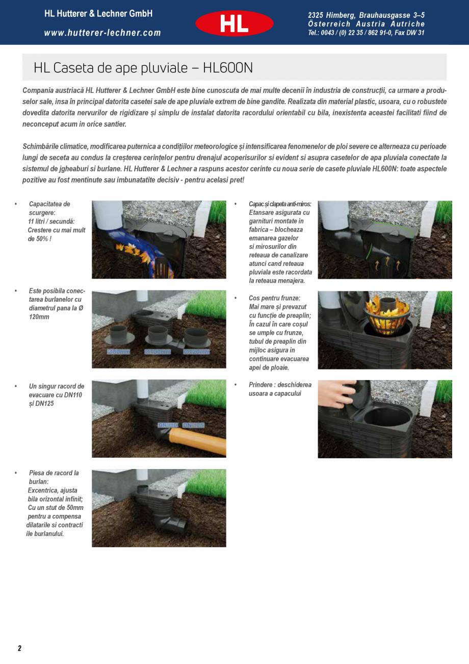 Pagina 2 - Noua caseta pentru ape pluviale - Pregatita pentru orice ploaie HL Hutterer & Lechner...
