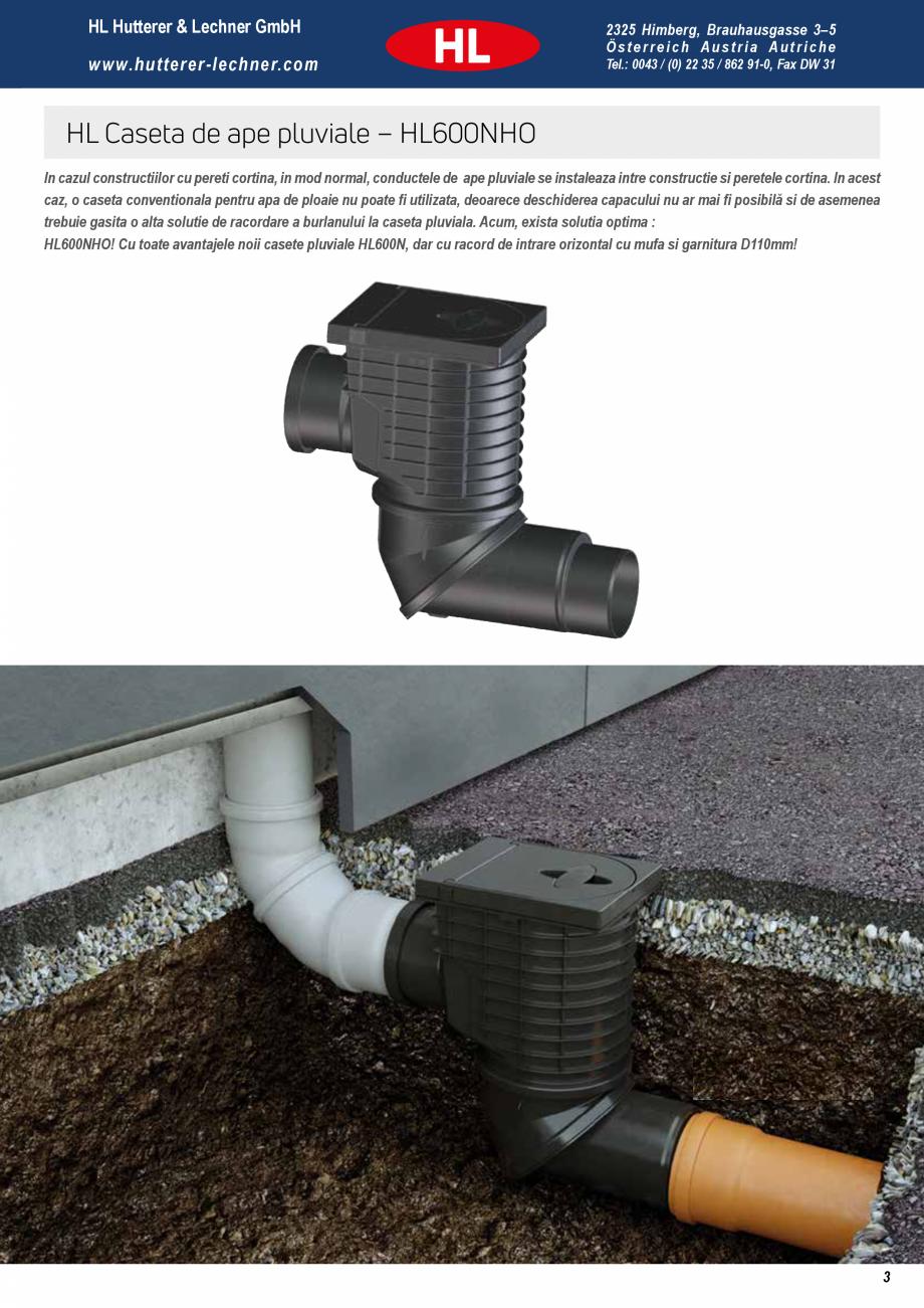Pagina 3 - Noua caseta pentru ape pluviale - Pregatita pentru orice ploaie HL Hutterer & Lechner...