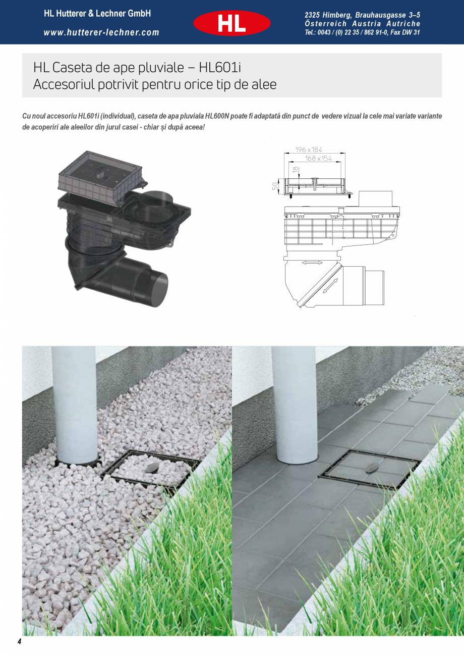 Pagina 4 - Noua caseta pentru ape pluviale - Pregatita pentru orice ploaie HL Hutterer & Lechner...