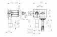 Desen tehnic - Sifon pentru masina de spalat DN40 50 cu racord la apa integrata -