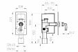 Desen tehnic - Sifon pentru masina de spalat DN40 50 cu racord pentru aerator - 110