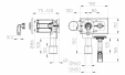 Desen tehnic - Sifon pentru masina de spalat DN40 50 cu racord la apa integrata si