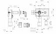 Desen tehnic - Sifon pentru masina de spalat DN40 50 cu pregatire pentru garda de apa