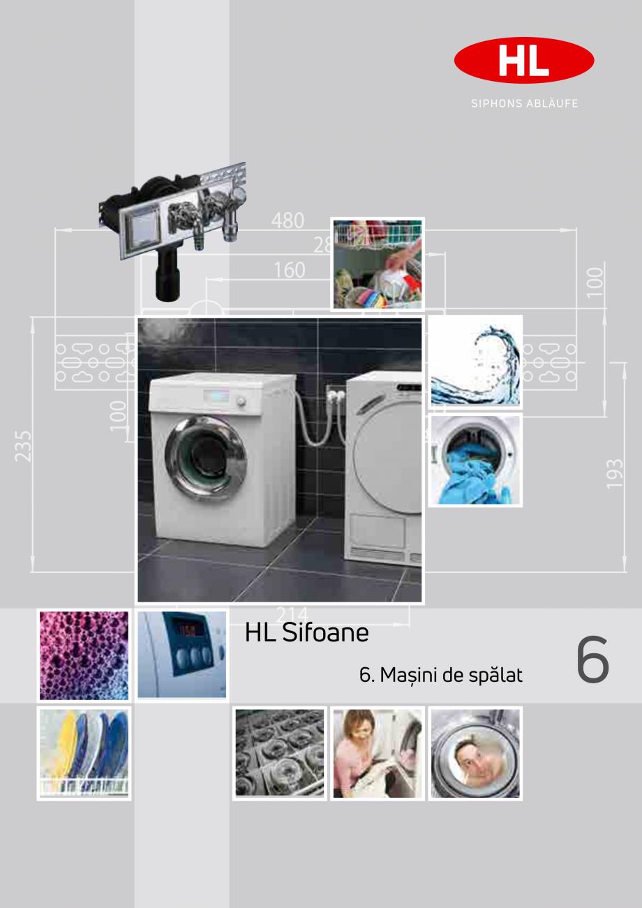 Pagina 1 - Sifoane pentru racordarea la canalizare a masinilor de spalat HL Hutterer & Lechner...
