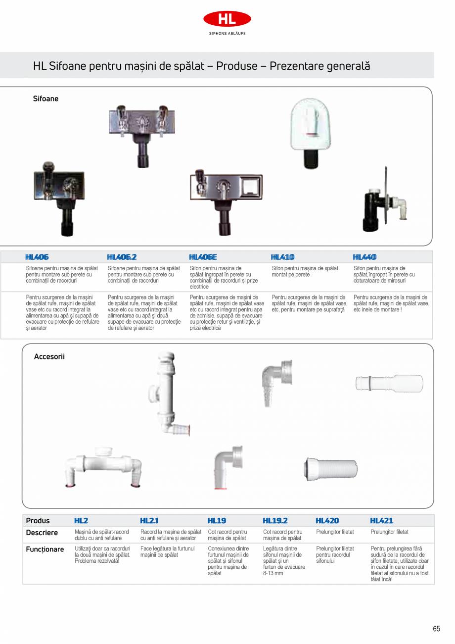 Pagina 3 - Sifoane pentru racordarea la canalizare a masinilor de spalat HL Hutterer & Lechner...