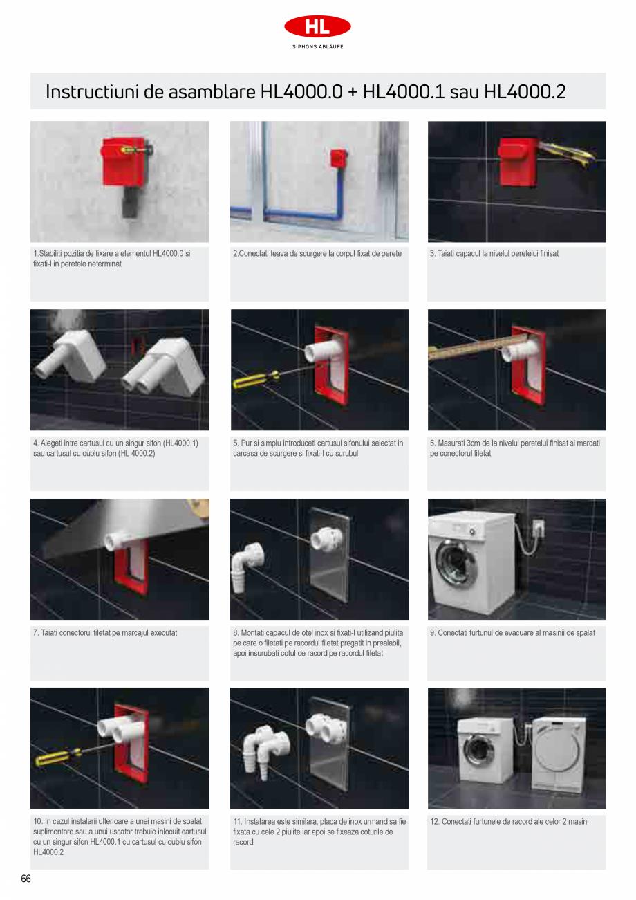 Pagina 4 - Sifoane pentru racordarea la canalizare a masinilor de spalat HL Hutterer & Lechner...