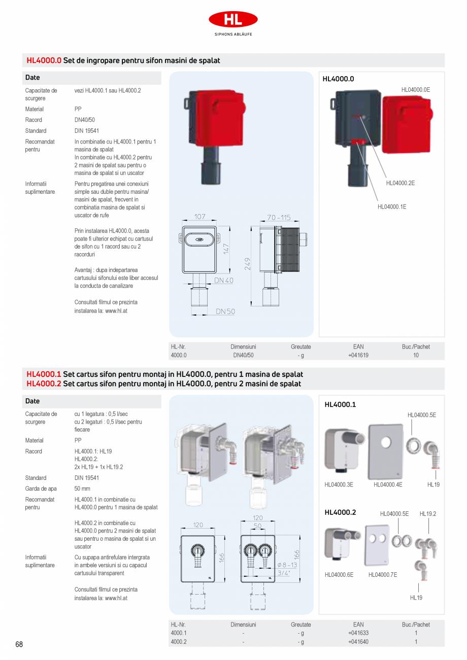Pagina 6 - Sifoane pentru racordarea la canalizare a masinilor de spalat HL Hutterer & Lechner...