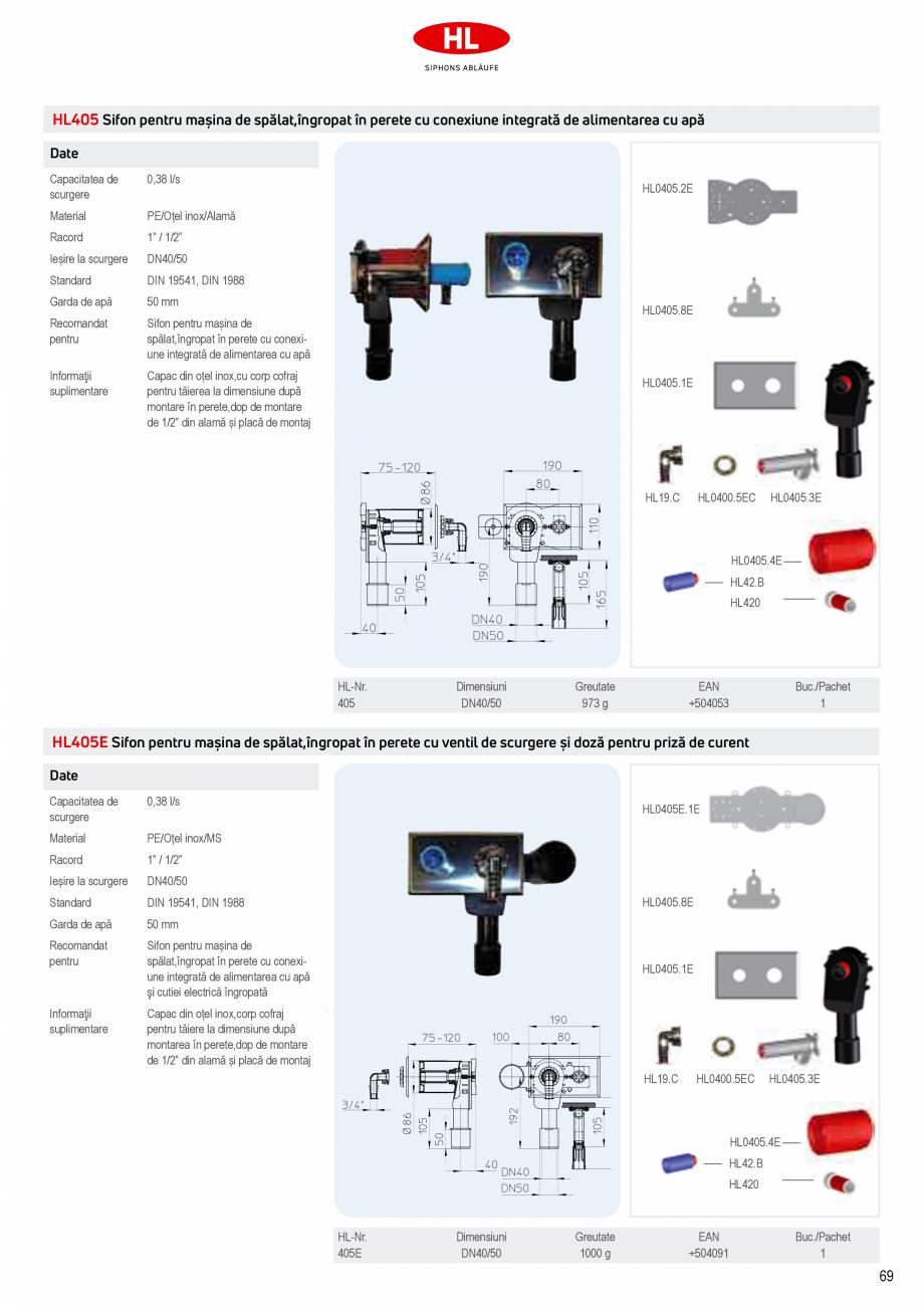 Pagina 7 - Sifoane pentru racordarea la canalizare a masinilor de spalat HL Hutterer & Lechner...