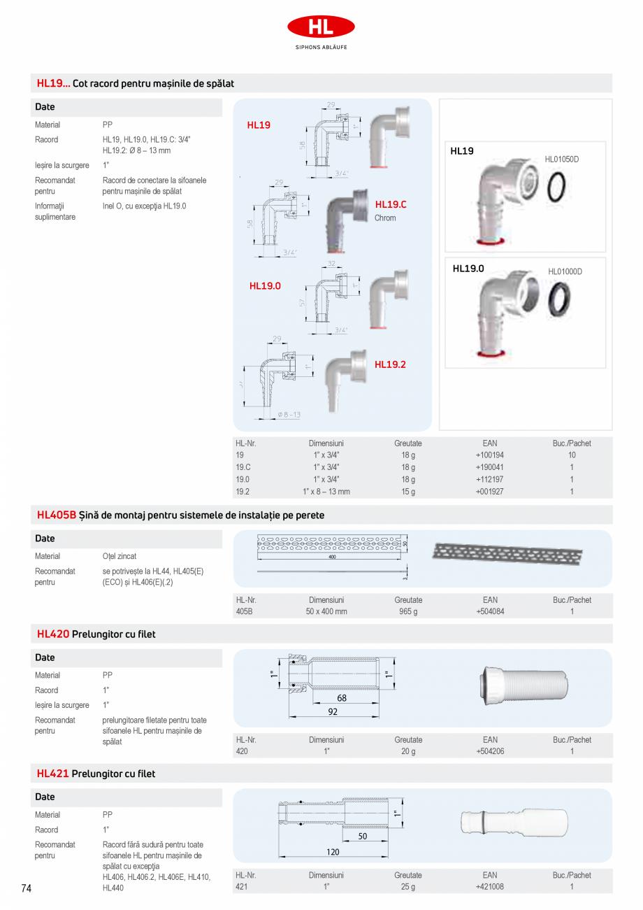 Pagina 12 - Sifoane pentru racordarea la canalizare a masinilor de spalat HL Hutterer & Lechner ...