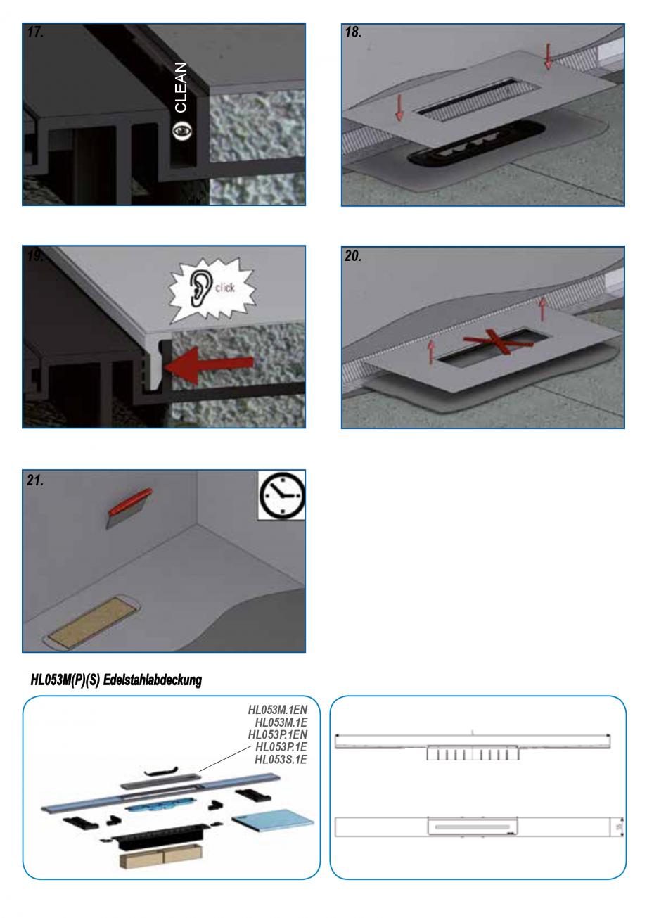 Pagina 4 - Ghid de instalare pentru rigolele de dus HL Hutterer & Lechner HL53K, HL53KF...