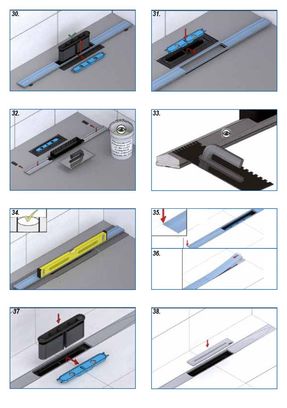 Pagina 6 - Ghid de instalare pentru rigolele de dus HL Hutterer & Lechner HL53K, HL53KF...