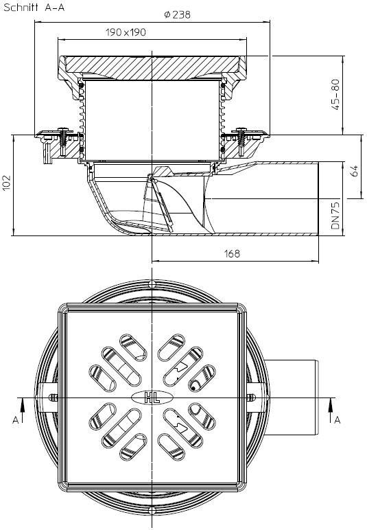 Schiță dimensiuni Receptor pentru parcare -  HL5100TG