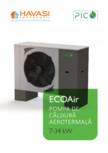 Pompa de căldură aerotermală 7-34kW PicoEnergy - ECOAir WPLT 7-34 kW