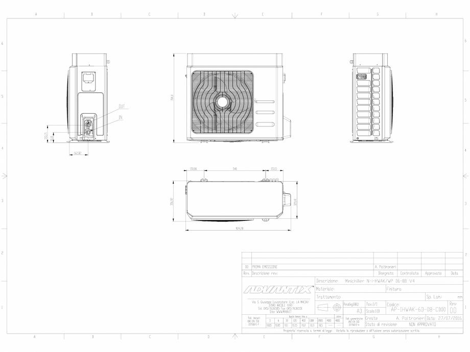 Pagina 1 - CAD-DWG Minichillerul N-i-HWAK V4 06-08 kW.DWG MAXA Detaliu de produs i-HWAK