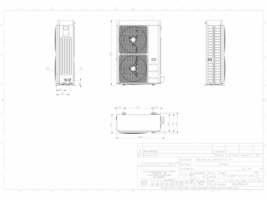 Pagina 1 - CAD-DWG Minichillerul N-i-HWAK V4 14-16 kW.DWG MAXA Detaliu de produs i-HWAK